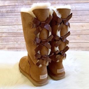 UGG Chestnut Bailey Bow Tall II Boots